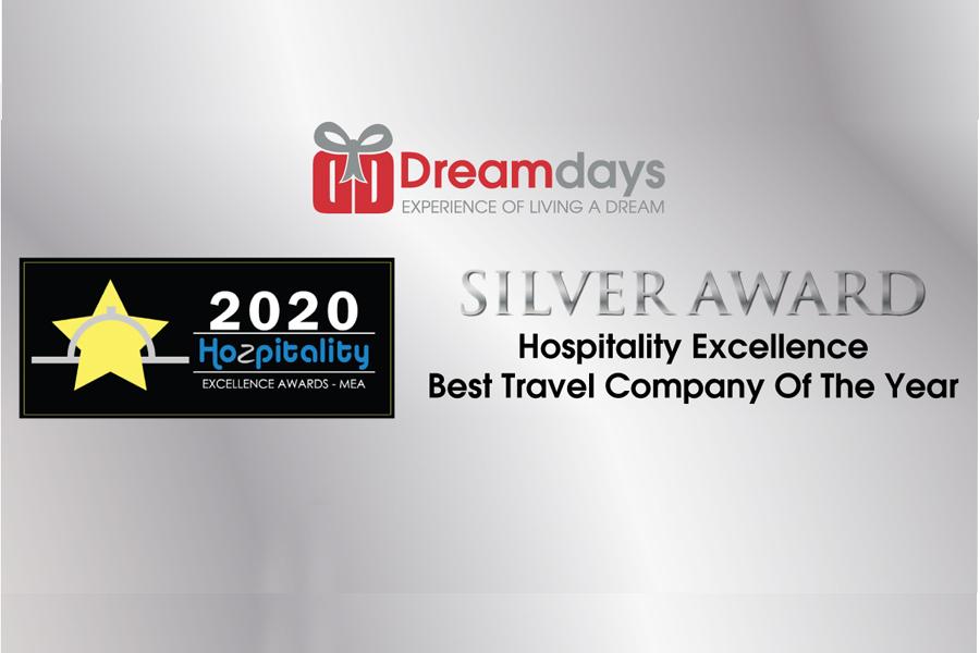 دریمدیز برنده نشان نقرهای جوایز برتر مهمانیاری خاورمیانه ۲۰۲۰